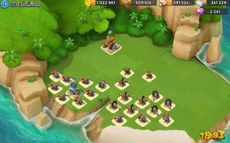 海島奇兵56級資源島封鎖海灘陣