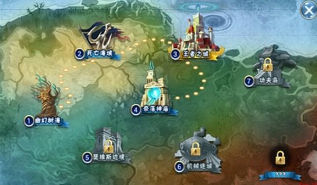 游龙英雄世界地图