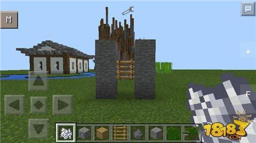 我的世界手机版0.11.0版骨粉点草开门电路制作攻略