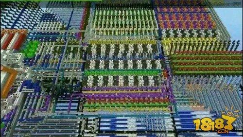 牛人在《我的世界》打造计算机 堆砌电路板
