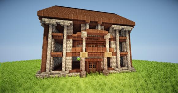 我的世界三层小旅馆建造方法