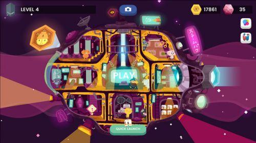 游戏有不同的角色可以解锁,玩家还可以在自己的飞船中分配不同的人物.