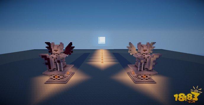 我的世界建筑教程 教你做光明骑士雕塑