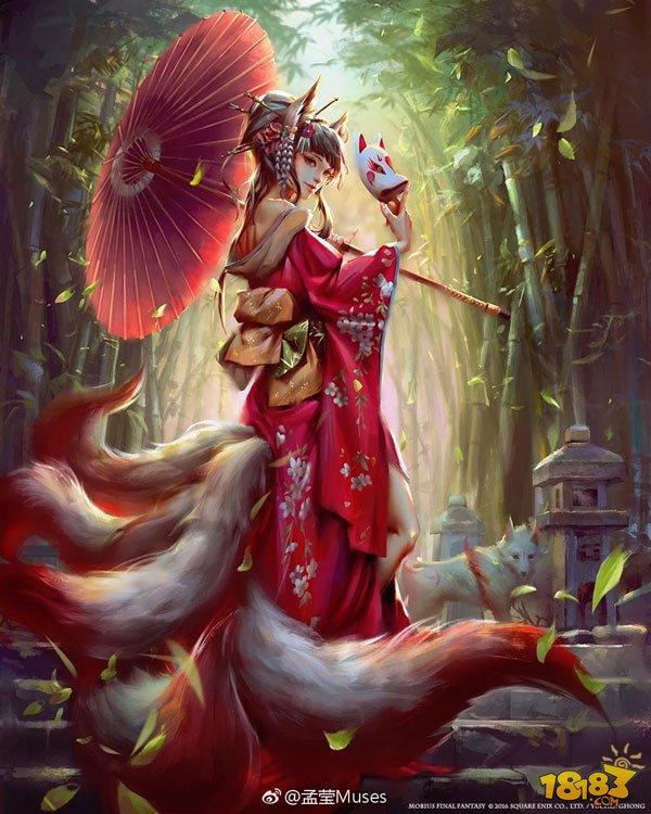 狐妖人物手绘图片