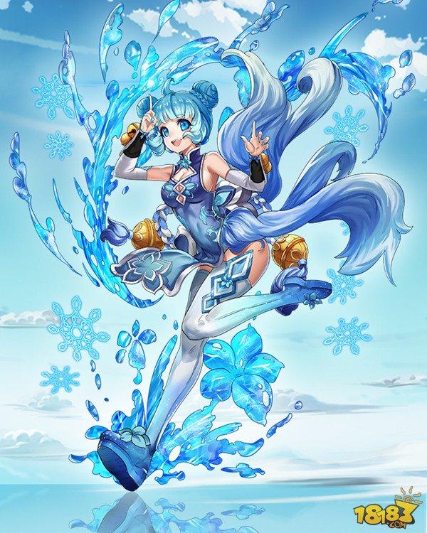 人物形象是一位扎着蓝色包子头的可爱萝莉,性格天真活泼,顽皮娇嗔,是