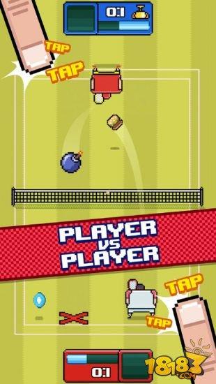 像素网球截图