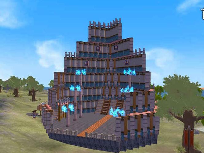 《创造与魔法》是一款可以改造环境,自由建造房屋,城池,城邦甚至
