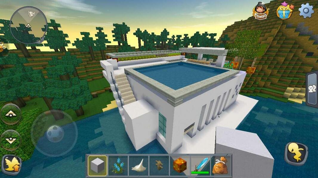 迷你世界简单的现代房子图片_18183迷你世界