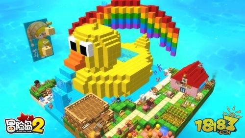 走进《冒险岛2》的展区,就仿佛步入了游戏中的玩具城一般,积木,齿轮