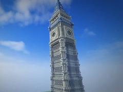 鬼影我的世界建筑展示:还原英国大本钟