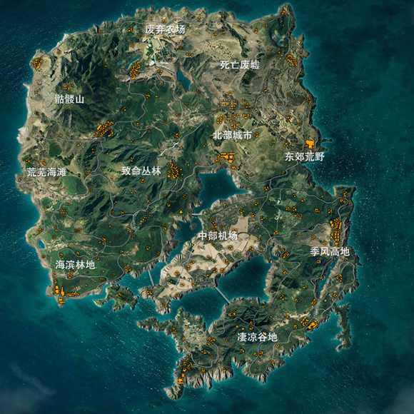 白骨荒野人口_荒野八人组大地图一览游戏地图标注提示