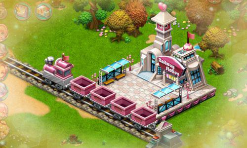 在梦幻岛上建立一座美丽的小镇,并且还可以通过社交网络与好友进行