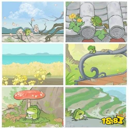 浓浓中国风 《旅行青蛙》中国版明信片合集大赏!