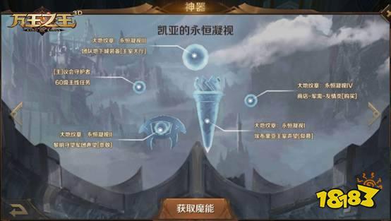 18183首页 万王之王3d 游戏攻略 正文   与前三件神器解锁条件不太一