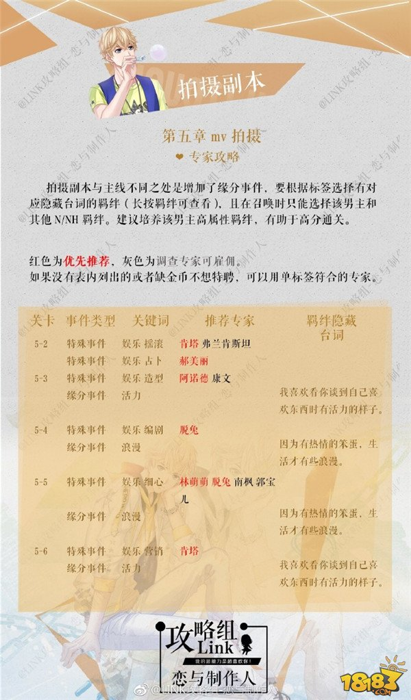 恋与制作人周棋洛拍摄副本第五章攻略 支线三星
