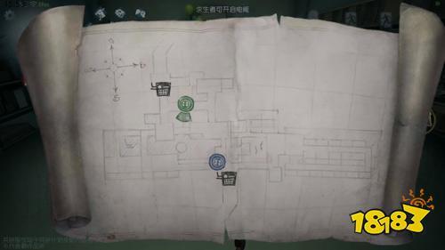 第五人格疯人院平面图分享 室内地图白沙街疯人院平面
