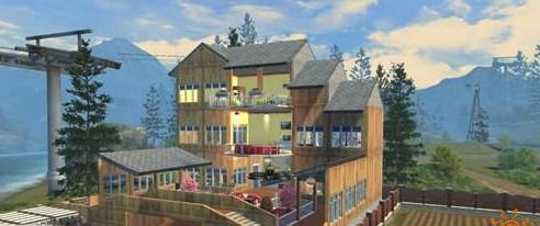明日之后房子设计图 中式拱桥别墅设计蓝图