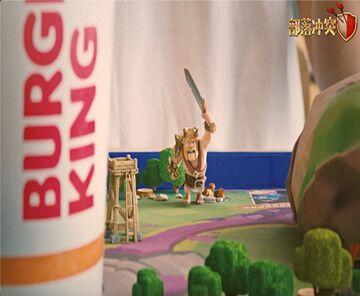 部落冲突x汉堡王x饿了么联动
