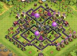 玩家自创阵型 部落冲突八本中期farm阵型布局