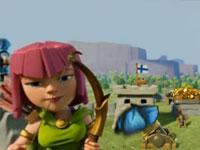 部落冲突全景宣传片 一个女弓箭手的日常