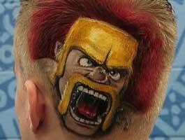 官方主播剪了潮爆新发型:野蛮人怒吼