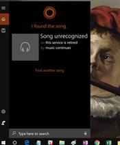 微软Windows 10 Cortana重磅功能被砍:听歌识曲再见