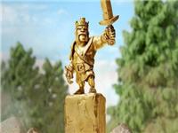 全球限量1000个 部落冲突官方国王手办黄金版