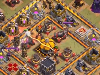 部落冲突1000个骷髅法术 能否摧毁9级基地