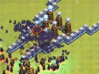 部落冲突超大型防御阵型阻击来犯的100个女巫部队