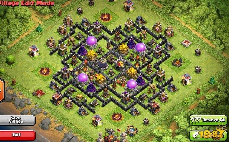 COC部落战争十本水晶杯双地狱之塔阵型