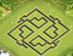 部落战争九本满防八卦迷宫阵型