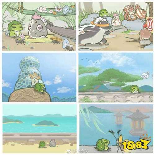 旅行青蛙中国之旅明信片曝光 中国版明信片都有哪些