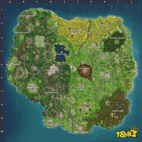 堡垒之夜手游新旧地图对比 变化区域资源介绍