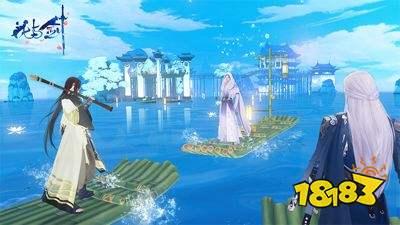 渔舟唱晚响湖滨 《花与剑》巧手制筏游湖之旅