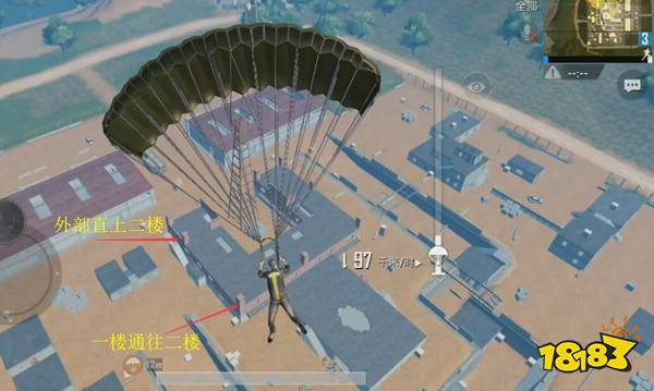 雨林地图作战指南 训练基地Y楼卡点及落点剖析