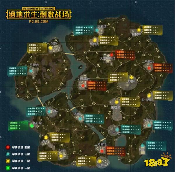 刺激战场雨林地图跳哪儿 资源分布图来帮你