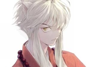 拥有一头美丽的银色长发 阴阳师犬夜叉同人绘