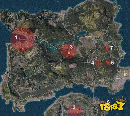 绝地求生全军出击地图落点选择 最肥的跳伞点分享
