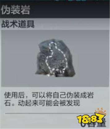 全军出击伪装岩属性介绍 阴人必备的一件道具