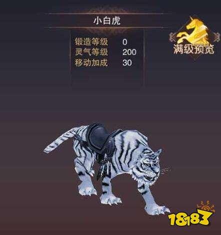 蜀门手游小白虎怎么样 造型和颜色都很简单的宠物