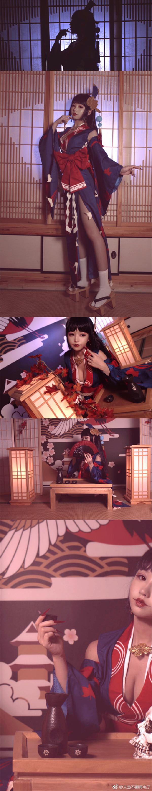 春宵一刻值千金 阴阳师鬼女红叶cosplay