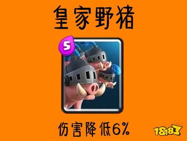 11月平衡调整研讨 皇家野猪套或将退出环境
