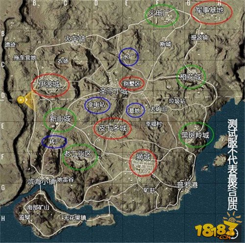 绝地求生全进出击米拉玛地图资源点详解