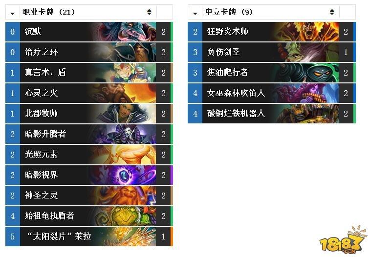 炉石传说女巫森林牧师 TOP10传说心火牧