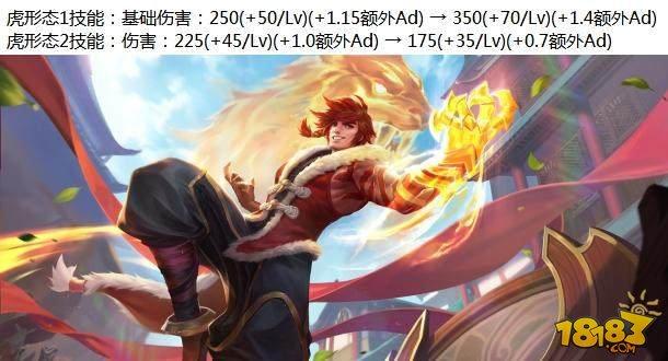 王者荣耀体验服更新:七位英雄调整 李白韩信削弱