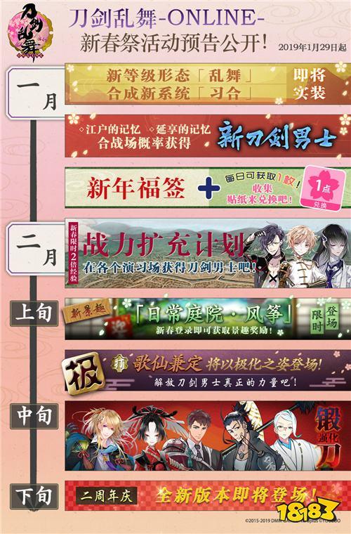 谨贺新年 刀剑乱舞-ONLINE-中文版新春祭版本欢庆登场