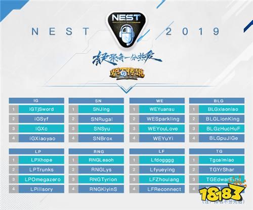 NEST2019《炉石传说》参赛选手及赛程赛制公布