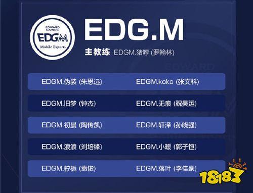 2019kpl秋季赛EDGM大名单都有谁 EDGM战队大名单一览