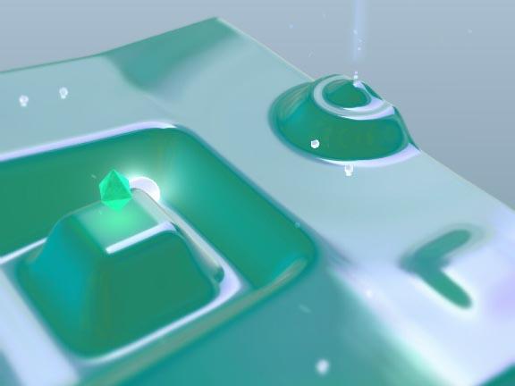 益智游戏《MeltLand》利用倾斜角度引导白色球体走向终点