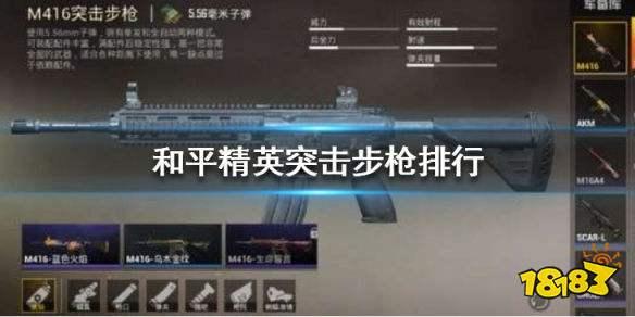 和平精英突击步枪排名2020